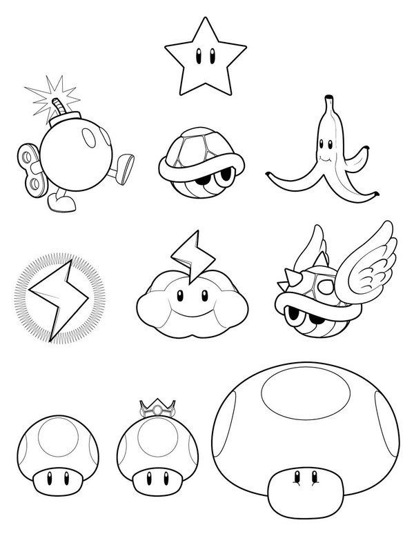 Super Mario Bros Coloring Pages Picture 17   tattoos   Pinterest ...
