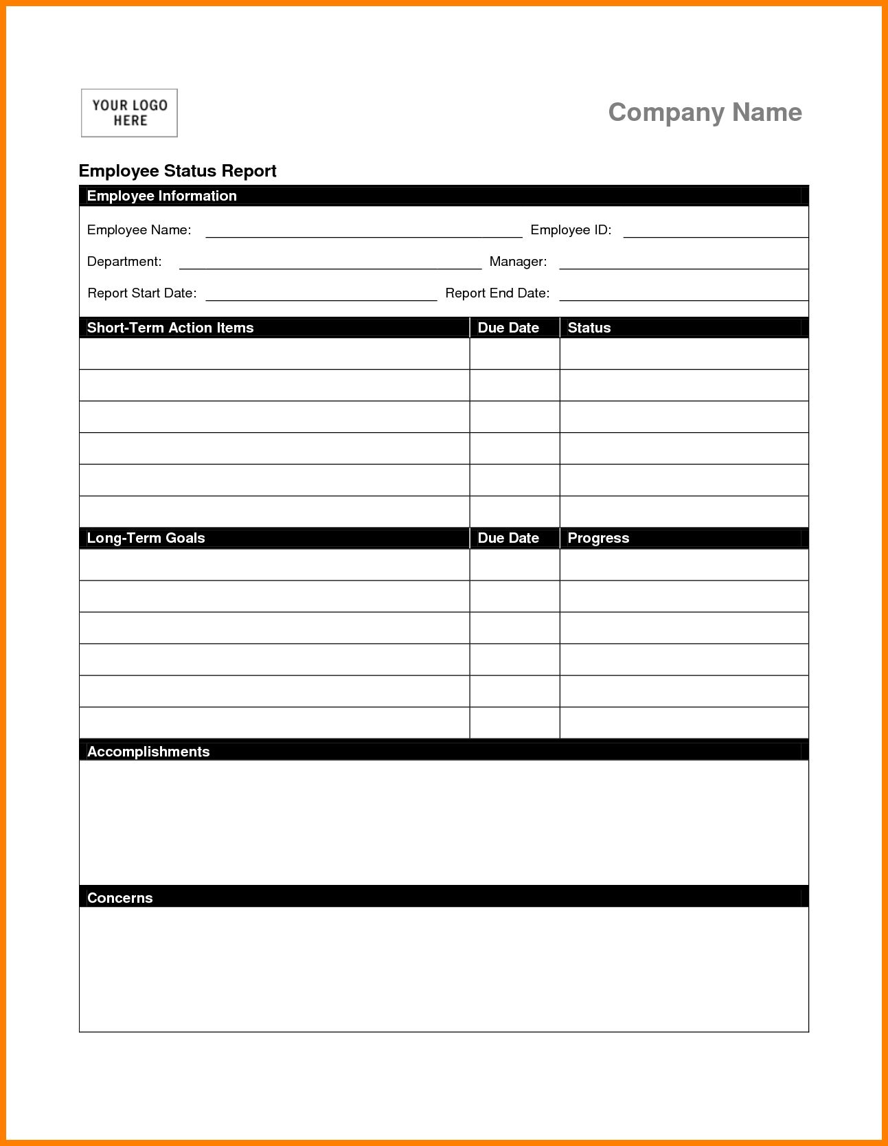 Weekly Status Report Sample Employee Template Venngage Ppt Pertaining To Qa Weekly Status Report Template In 2020 Progress Report Template Project Status Report