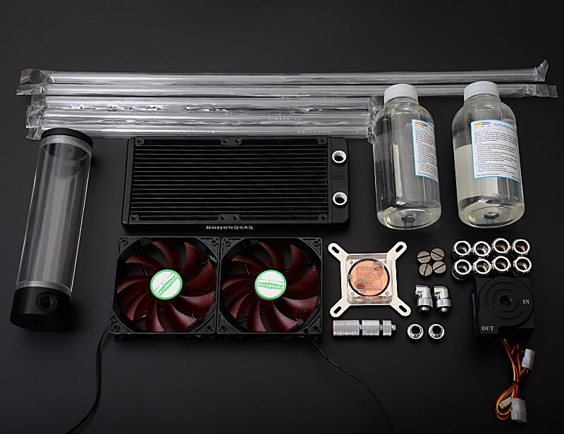 Syscooling Acrylic Transparent Hard Tube Water Cooling Kit For Cpu