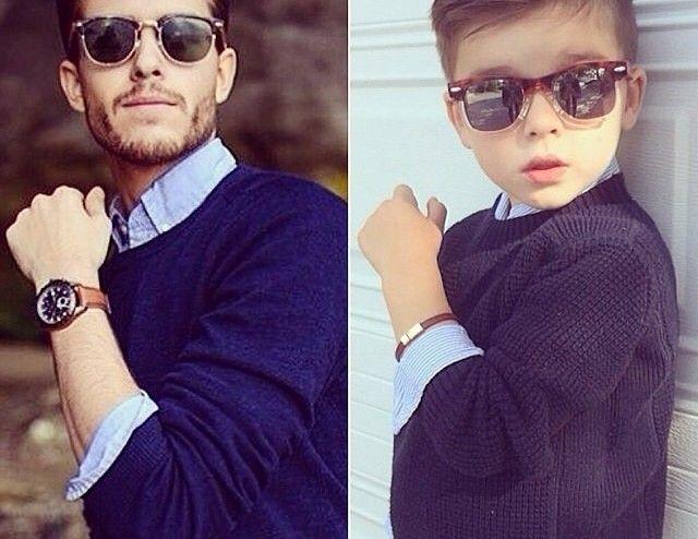 El niño que viste como los famosos en Instagram