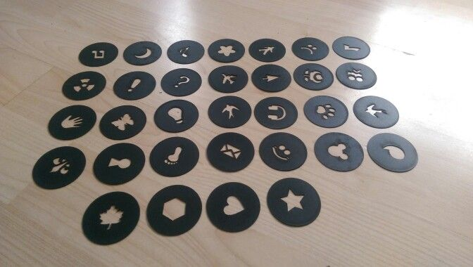 Templates for our home made lens covers for #bokeh #photography