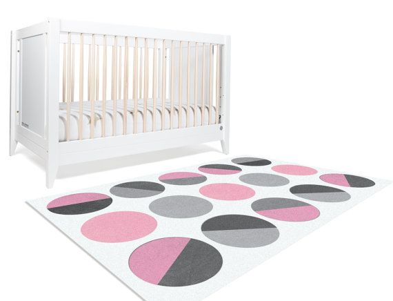 Decorative Rug Area 5x8 Pink Floor And Grey Nursery Decor