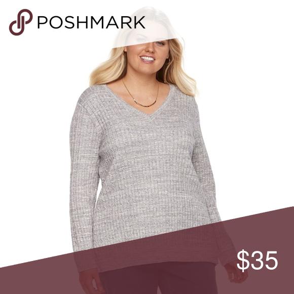 Plus Size CROFT   BARROW Cable-Knit V-Neck Sweater Plus Size CROFT ... 20b0449e6