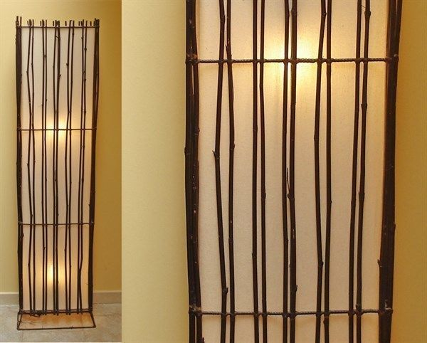 Bambu Arredamento ~ Lampada da terra stecche bamboo piantana arredamento design etnico