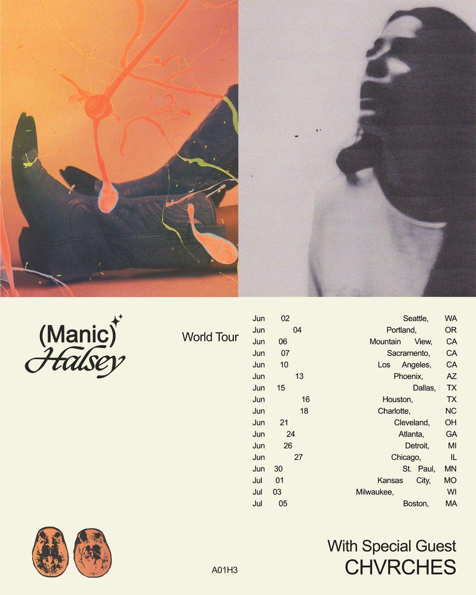 Chvrch3s On Twitter In 2020 Concert Poster Design Halsey Poster Halsey