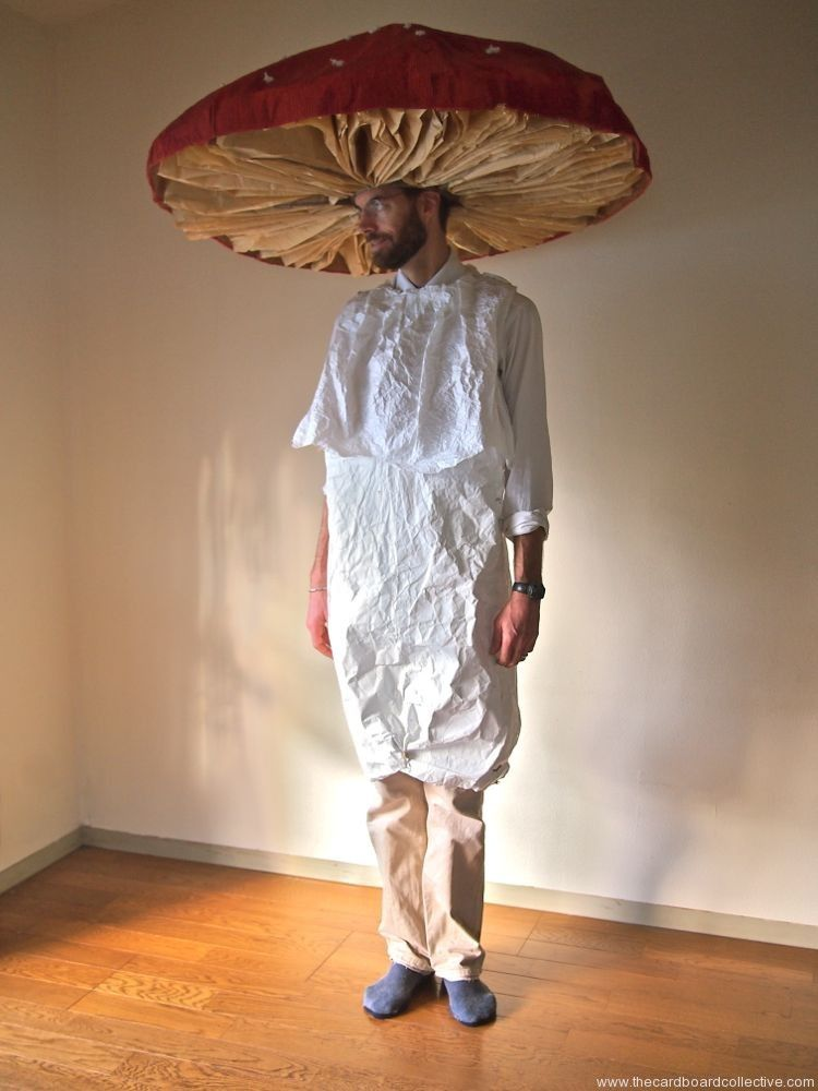 the cardboard collective cardboard mushroom costume next years halloween costume