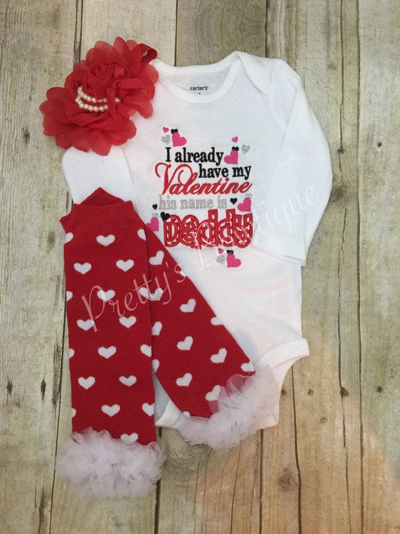 valentines day outfit for newborn baby girl by prettysbowtique