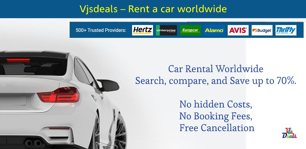 Car Rental Worldwide Search Compare And Save Up To 70 No Hidden Costs No Booking Fees Free Cancellation Exclusive Rates Fr Car Rental Best Travel Deals