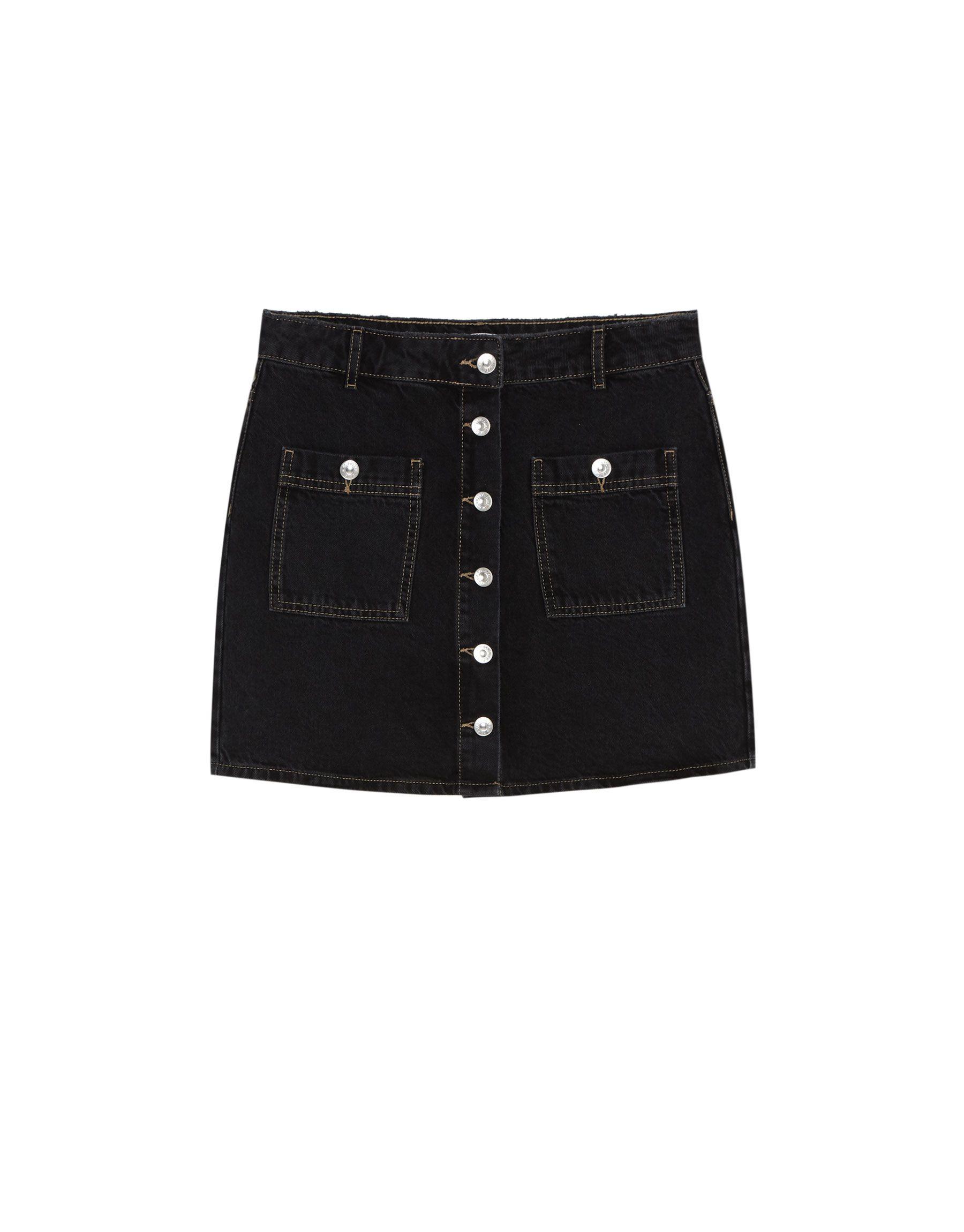 Minifalda vaquera - Faldas - Ropa - Mujer - PULL BEAR España  3a4e73d14688