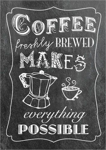 GreenNest - frischen Kaffee neu Chalkboard Pinterest Kaffee - glasbilder für küche
