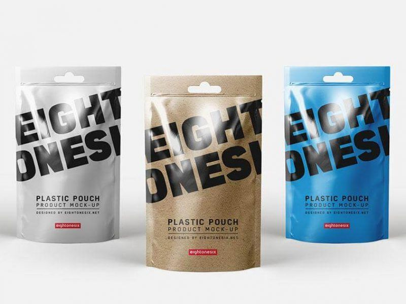 Download Free Plastic Pouch Hang Hole Mockup Free Package Mockups Plastic Pouch Pouch Packaging Mockup Free Psd