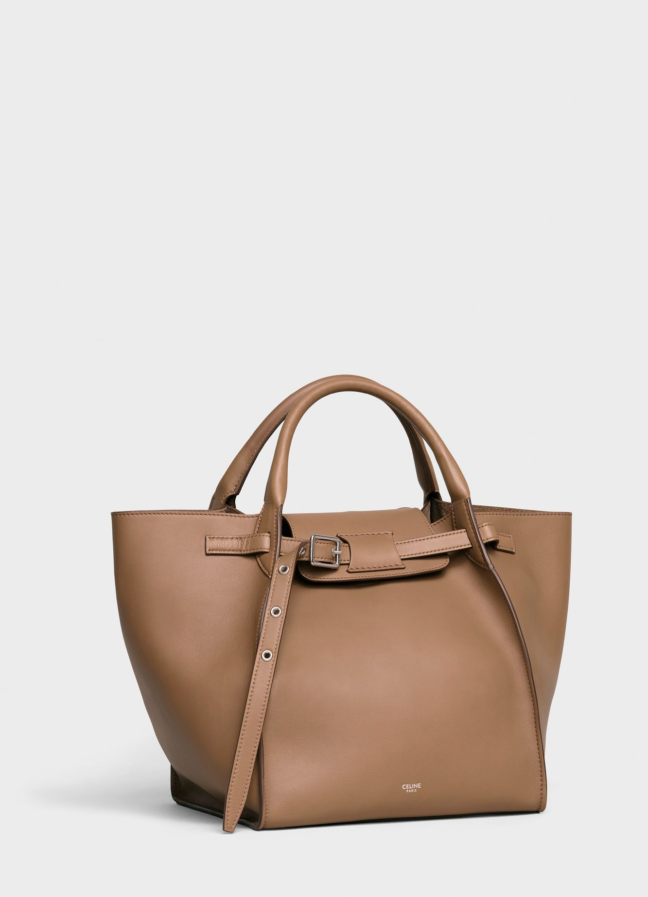 f421b252cd0 Céline - Small Big Bag with long strap in smooth light camel calfskin