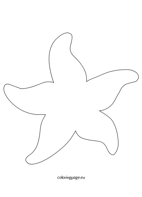 image regarding Printable Starfish titled Starfish Practice Printable Starfish Applique routines