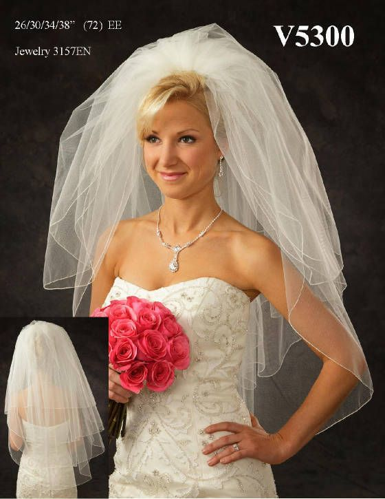 Affordable Elegance Bridal - Full Four Layer Fingertip Length Wedding Veil V5300, $94.99 (http://www.affordableelegancebridal.com/full-four-layer-fingertip-length-wedding-veil-v5300/)