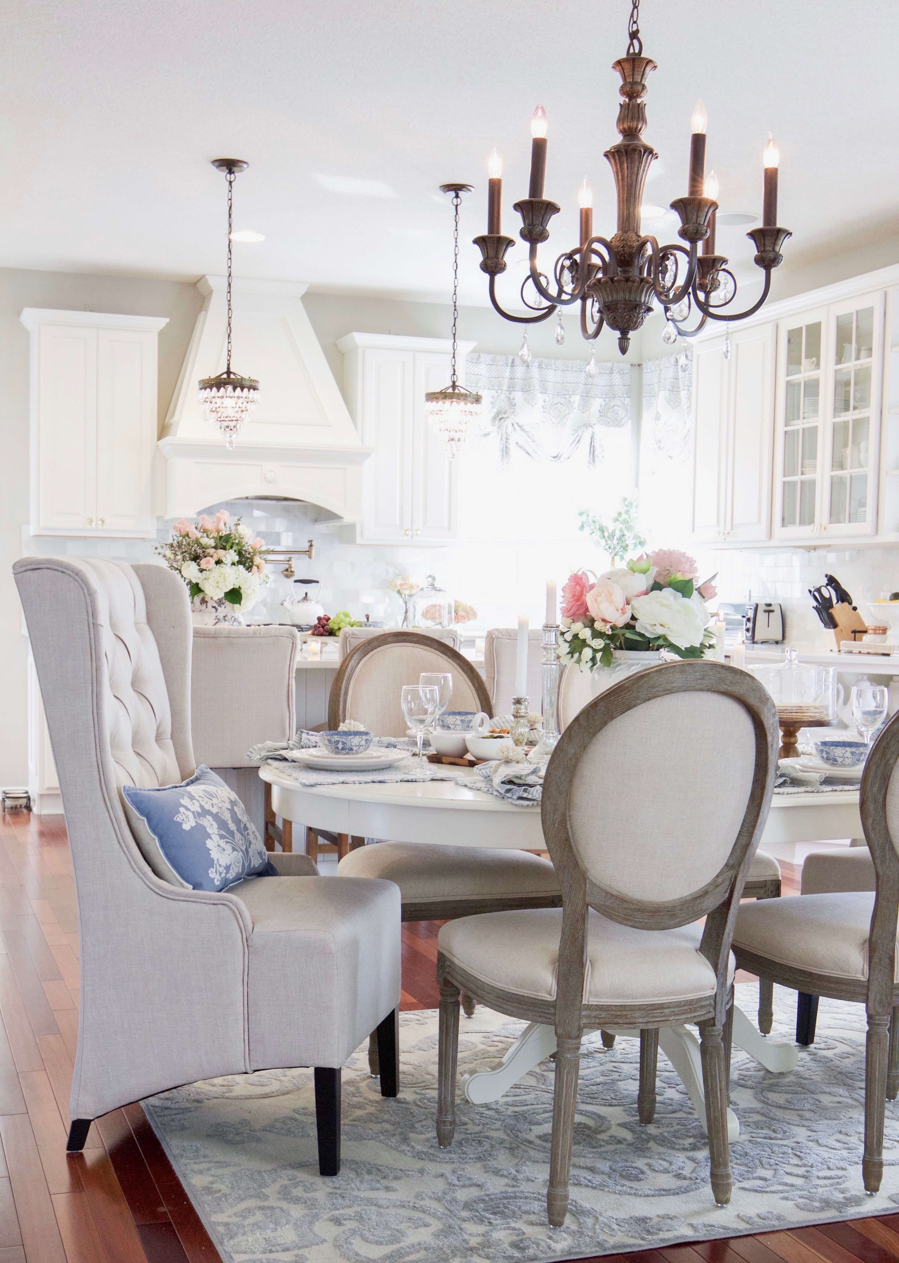 Spring Entertaining With Birch Lane And Stonewall Kitchen Dining Room Decor Beautiful Dining Rooms Wood Floor Inspiration
