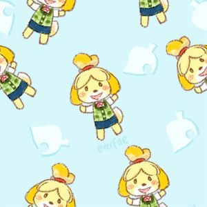 Animal Crossing Everfae 4 Seamless Isabelle Backgrounds For