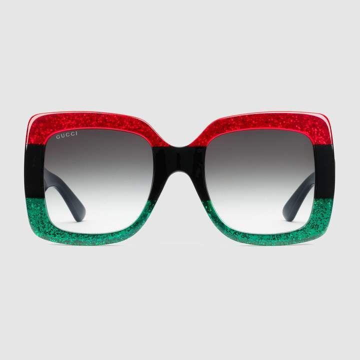732c03bf6aeb3 Gucci Square-frame acetate sunglasses