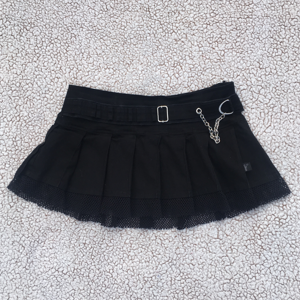 [Tripp NYC] Micro Mini Skirt 🔪🔪🔌  washed out black