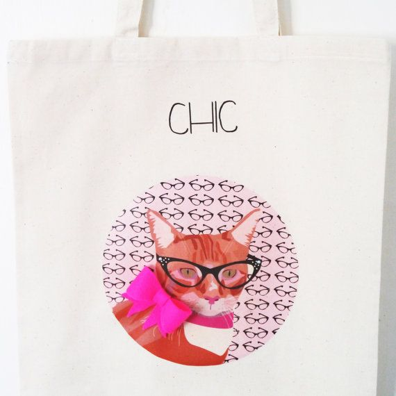 Ginger Cat Tote Bag by JayneyMac on Etsy, £8.00