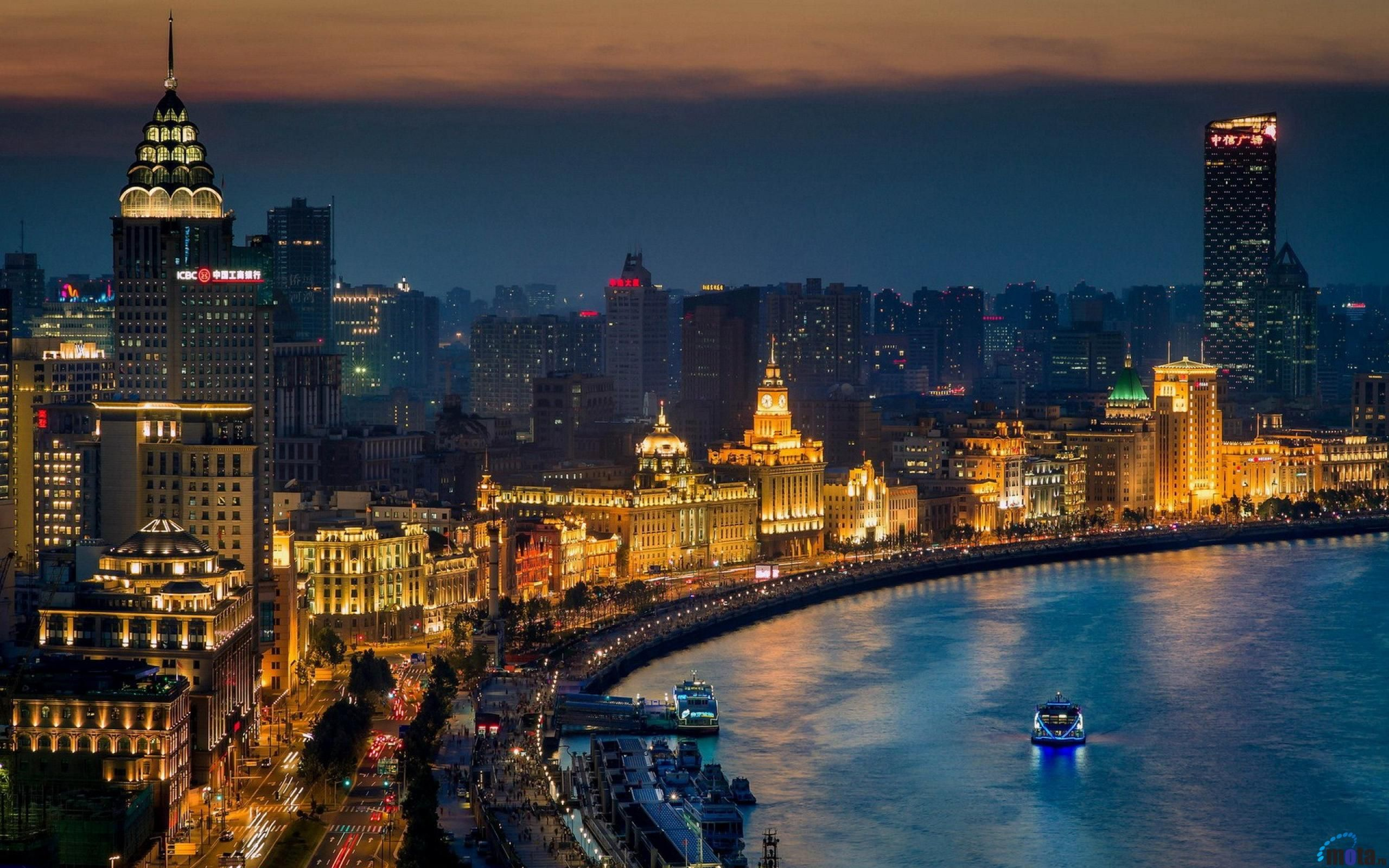 Обои здания, шанхай, ночной город, shanghai, китай, china. Города foto 17