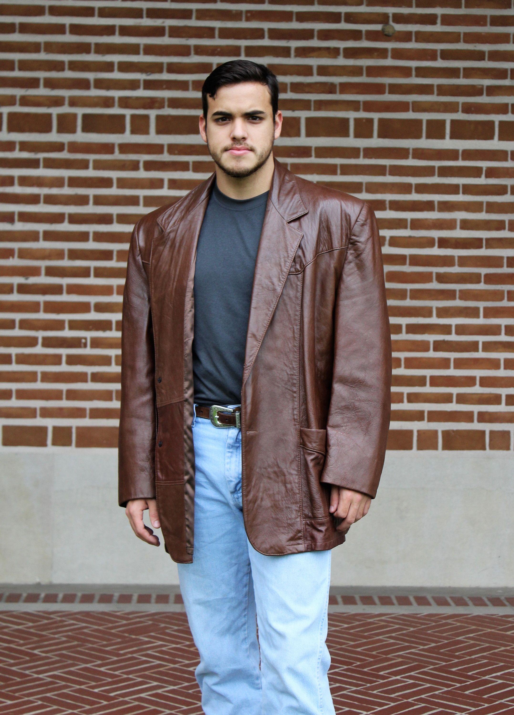 Vintage 1970s Reed Sportswear Brown Leather Blazer 52 Men Etsy Leather Blazer Sportcoat Vintage Mens Fashion [ 3000 x 2155 Pixel ]