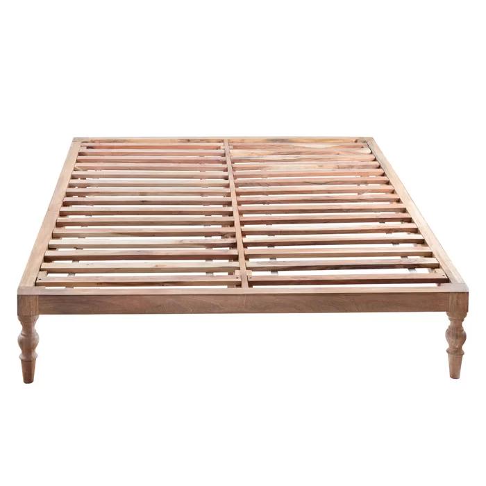 Bungalow Rose Henson Queen Solid Wood Platform Bed Reviews