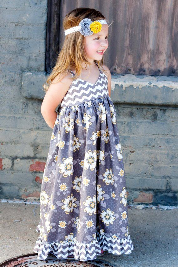 b3bbfb7133947 Girl Maxi Dress- Modern Kids Clothing- Custom Girl Maxi Dress- Maxi-  Boutique Maxi- Custom Maxi Dres