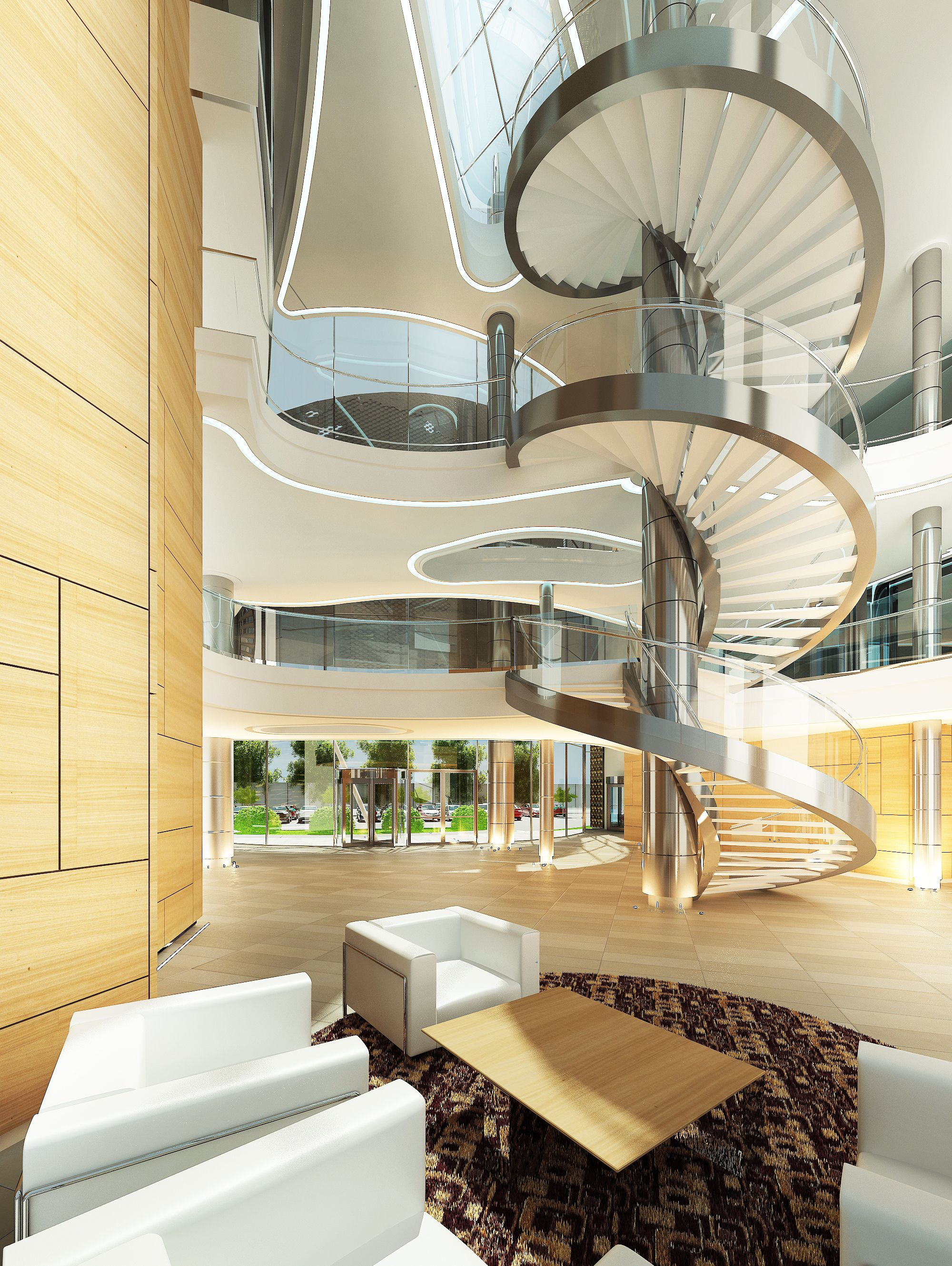 Spiral Staircase For Ecobank Ghana By ARC Architects Pretoria.
