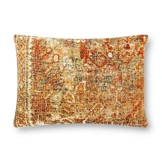 """Alexander Home Vintage Boho Traditional Throw Pillow (Polyester - 16"""" x 26"""" Cover w/Polyester Filled), Ivory"""