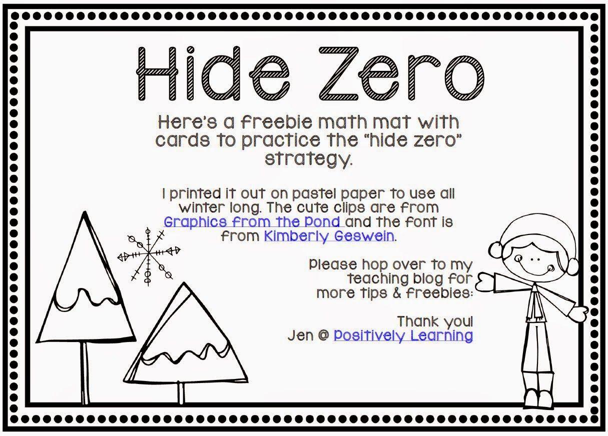 Positively Learning: Hide Zero Freebie & Sensory Fun