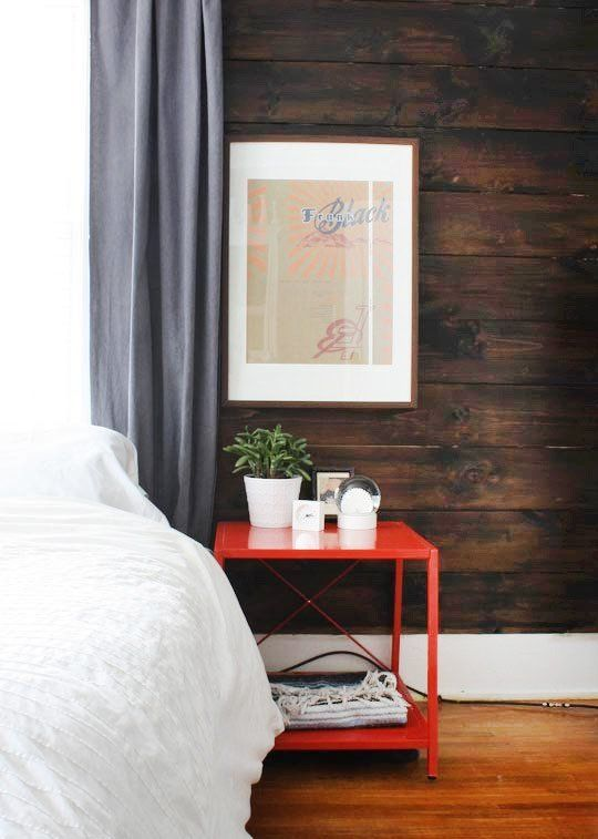 Favorite Red Nightstands for the Bedroom