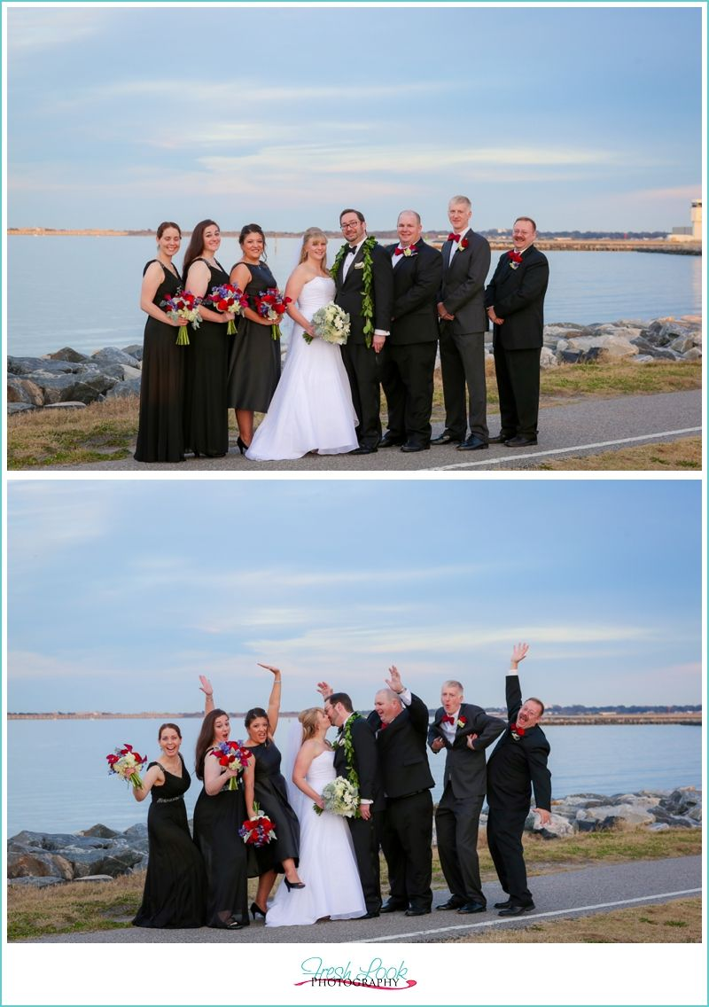 travel themed wedding, bride and groom, Naval Station Norfolk Chapel, Fresh Look Photography, Vivid Expressions, travel wedding, mr and mrs, just married, wedding party