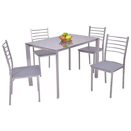 563740bd12 MyEasyShopping Dining Set Table Chairs Century Room Mid Furniture Modern  Windsor Chair Wood China Top Patio