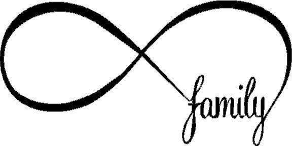 3 Infinity Family Vinyl Decalsticker Love Forever Sign Symbol