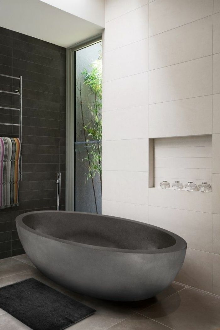 41 fantastische ovale Badewanne Modelle Bad Pinterest Bath - badezimmer grau design