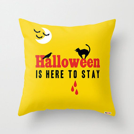 Happy halloween, Halloween Pillow Cover, Trick or Treat, Halloween Decor, autumn throw pillow