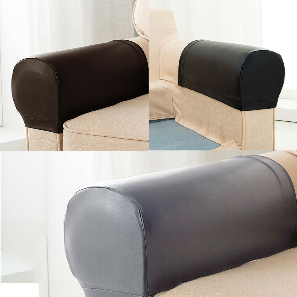2x Armrest Covers Stretchy Chair Sofa Arm Protectors Stretch Furniture Slipcover