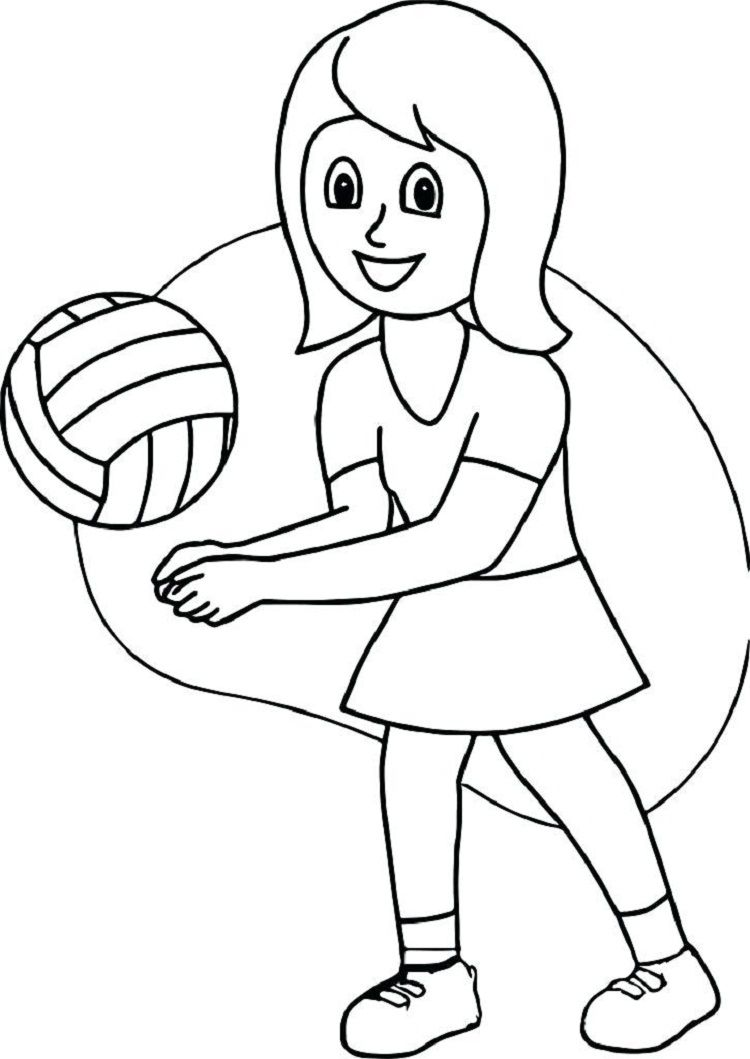 Free Printable Volleyball Coloring Pages Eglence