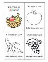 two page little learner booklet color both pages of fruit their actual colors cut on the. Black Bedroom Furniture Sets. Home Design Ideas