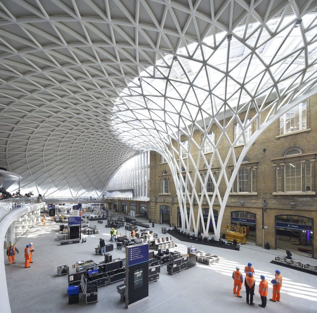 Structure m tallique gare king 39 s cross londres for Aea architecte