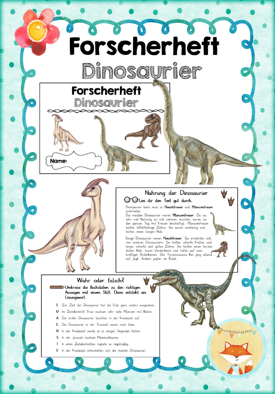 Forscherheft Dinosaurier Unterrichtsmaterial Im Fach Sachunterricht In 2021 Dinosaurier Dinosaurier Kindergarten Dinosaurier Kunst