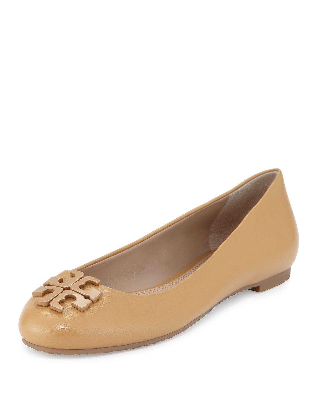 Lowell 2 Leather Ballet Flat, Blond, Women's, Size: 7.5B/37.5. Leather Ballet  FlatsBlondLeatherTory Burch