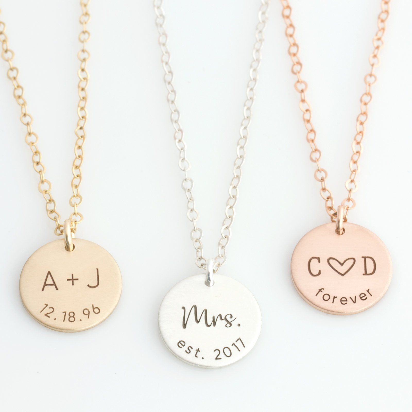 Personalized anniversary date necklace valentines gift