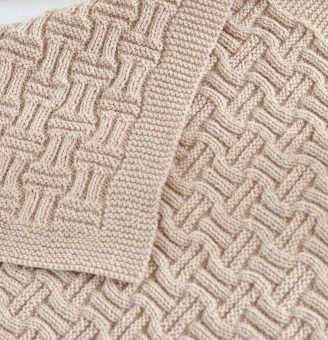 Knitting Pattern Easy Double Basketweave Baby Blanket - Easy blanket ...