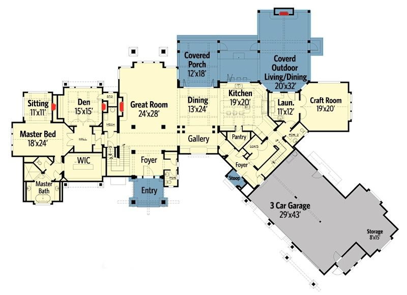 Plan 23612jd Six Bedroom Mountain Retreat How To Plan Floor Plans House Plans