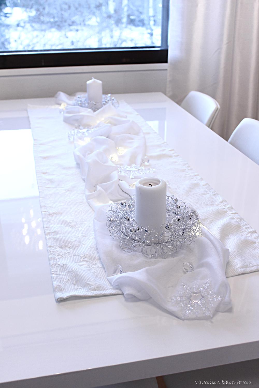 .Valkoinen (joulu)pöytä