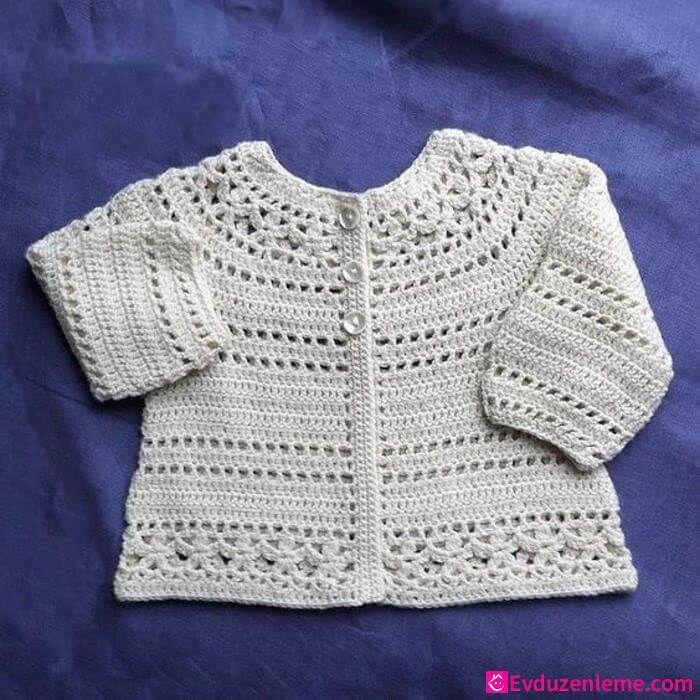 Modèles de cardigan en tricot bébé fille   – Örgü Modelleri