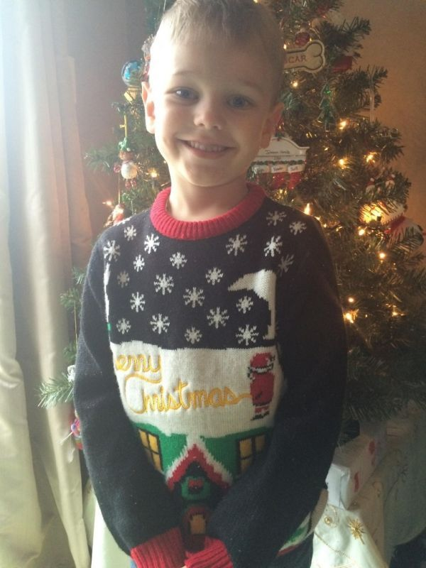 Man Accidentally Sends Five-Year-Old Son To School In Obscene Sweater - Neatorama
