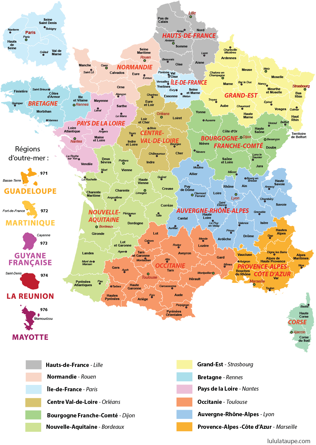 Carte Des 13 Regions De France A Imprimer Departements Prefectures Carte De France A Imprimer Carte De France Departement Carte De France Region