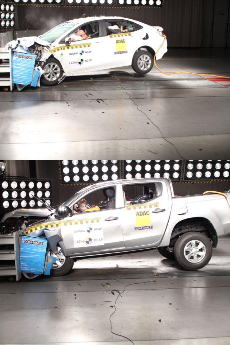 Nuevo Chevrolet Onix Hatchback Cinco Estrellas De Proteccion Para Adultos E Infantil Mitsubishi L200 Cero Estrellas Mitsubishi L200 Estrellas Industria
